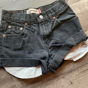 Levi's black cut off shorts